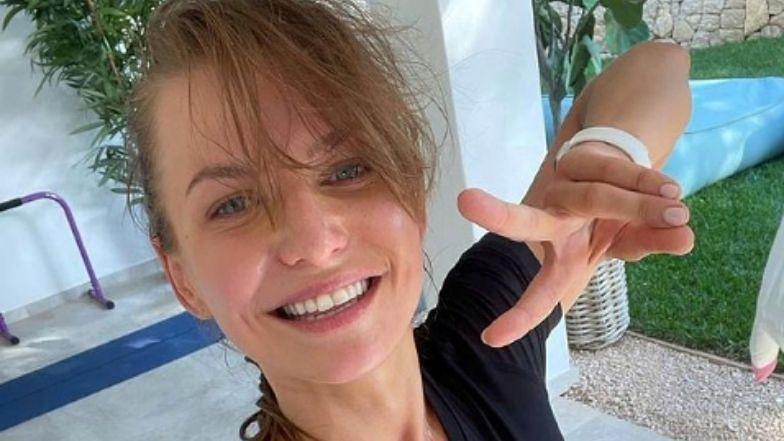 Euro 2020. Anna Lewandowska kibicuje Polakom podczas meczu ze Szwecją. Przyniesie Robertowi szczęście? (ZDJĘCIA)