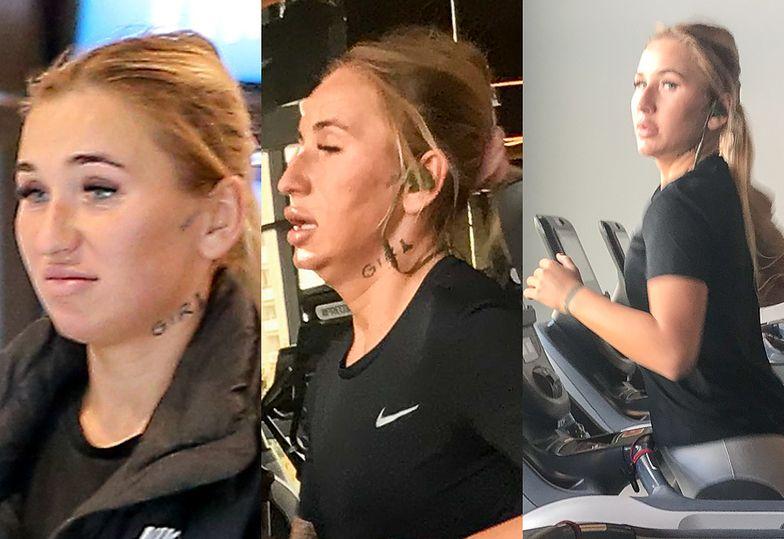 Zasapana Marta Linkiewicz poci dorodne wargi na siłowni (FOTO)