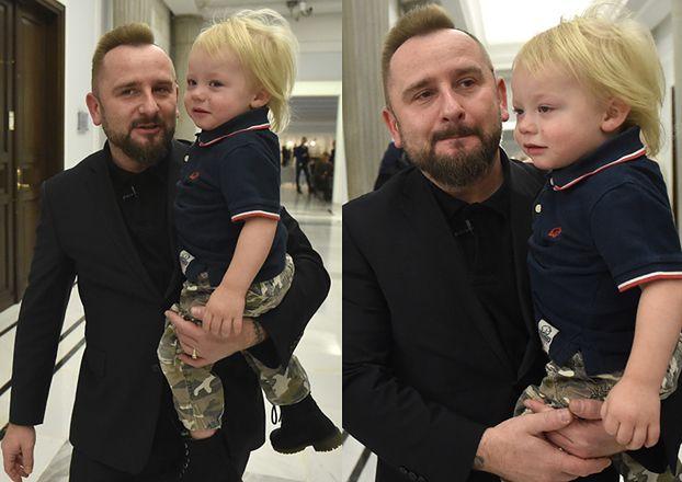 Poseł Liroy zabrał syna do Sejmu (ZDJĘCIA)