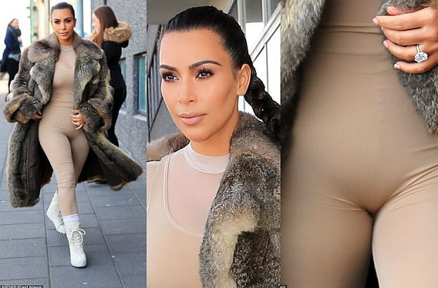 Kim Kardashian w BARDZO OBCISŁYM kombinezonie... (FOTO)