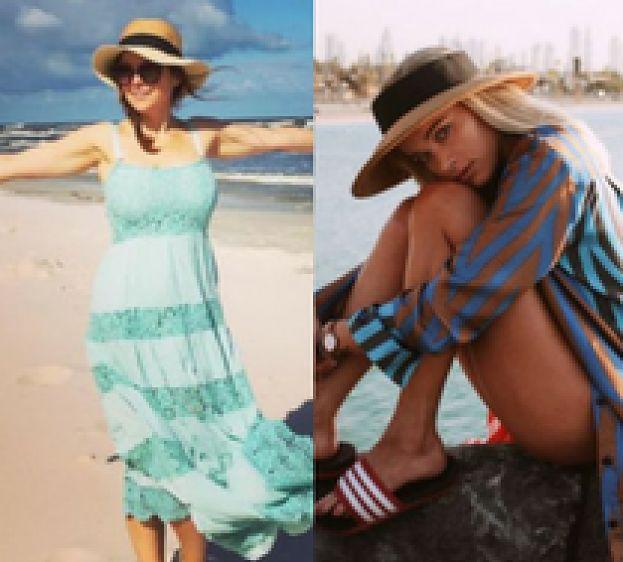 Słomkowe kapelusze w letnich stylizacjach celebrytek