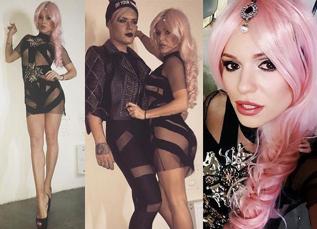 Doda w różowej peruce wystąpiła w klubie dla gejów (ZDJĘCIA)
