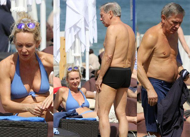 Jan Englert z żoną na plaży w Sopocie! (ZDJĘCIA)