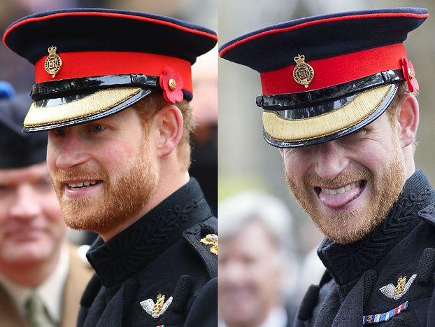 Urocze miny księcia Harry'ego na spotkaniu z weteranami (ZDJĘCIA)