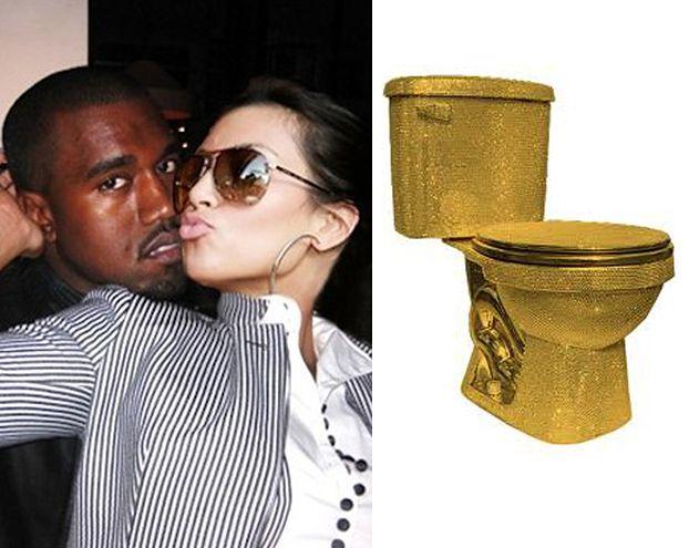 Kim i Kanye kupili ZŁOTE KIBLE!