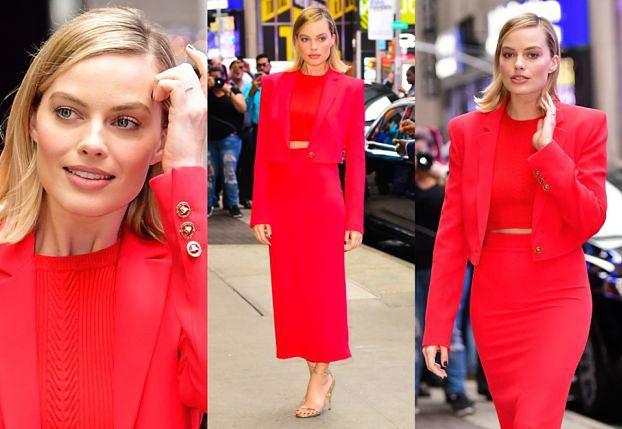 Margot Robbie w czerwieni promuje nowy film