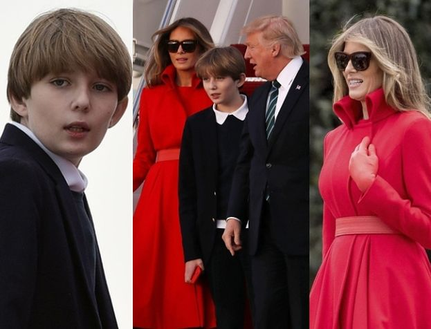 Donald i Melania pokazali Barrona PO RAZ PIERWSZY od inauguracji! (ZDJĘCIA)