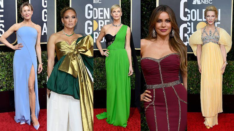 Złote Globy 2020: posągowa Renee Zellweger, limonkowa Charlize Therone, Sofia Vergara, Cate Blanchett i wielu innych