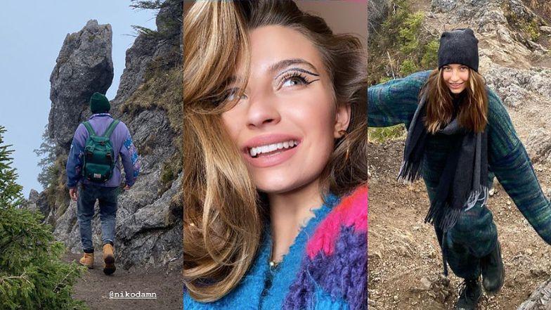 Zrelaksowana Julia Wieniawa włóczy się po górach z Nikodemem Rozbickim (ZDJĘCIA)