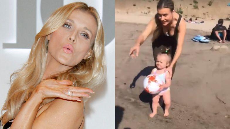"""Joanna Krupa ekscytuje się plażowaniem z """"księżniczką"""" Ashą-Leigh: """"LATO W STYCZNIU"""" (FOTO)"""