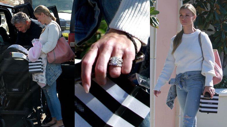 Naturalna Joanna Krupa OŚLEPIA masywnym diamentem na palcu podczas zakupów z Douglasem i malutką Ashą-Leigh (ZDJĘCIA)