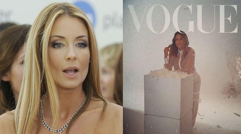 """Małgorzata Rozenek udaje (?), że ma sesję do """"Vogue'a"""". """"Moja pierwsza okładka"""""""