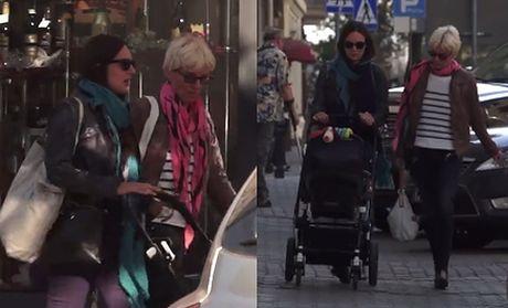 Anna Czartoryska z teściową i wózkiem na rodzinnym spacerze!