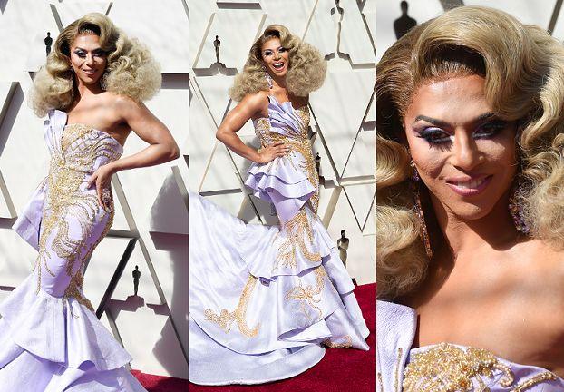 """Wystrojona Shangela z """"Rupaul's Drag Race"""" bryluje na Oscarach"""