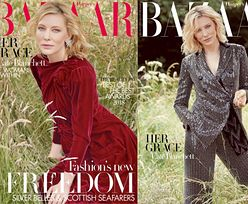 """Posągowa Cate Blanchett relaksuje się w polu na okładce """"Harper's Bazaar"""""""