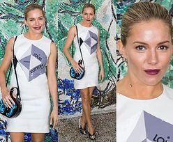Sienna Miller chwali się logo na pokazie Louis Vuitton