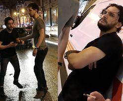 Pijany Kit Harington zatrzymuje samochody na ulicy (ZDJĘCIA)