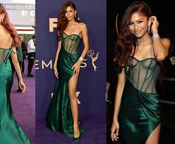 OLŚNIEWAJĄCA Zendaya błyszczy w butelkowozielonej sukni Very Wang na gali Emmy. Piękna? (ZDJĘCIA)