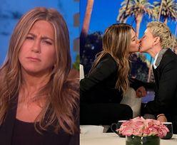 """Jennifer Aniston gorąco pocałowała Ellen DeGeneres! """"Masz takie miękkie usta!"""" (WIDEO)"""