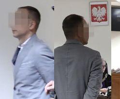 Dariusz K. wraca zeznawać do sądu w kajdankach i pomiętej marynarce (WIDEO)