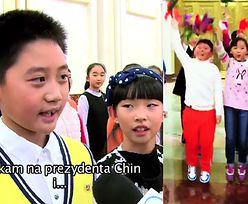 """Chińskie dzieci witają Dudę. """"Czekamy na prezydenta Chin i Holandii!"""""""
