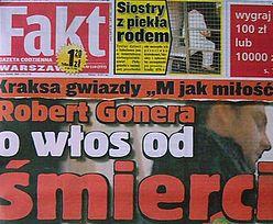 Groźny wypadek Gonery