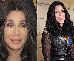 Wygładzona twarz Cher próbuje się uśmiechnąć do zdjęcia (FOTO)