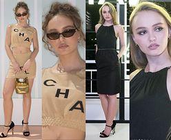 Lily-Rose Depp w dwóch stylizacjach na pokazie Chanel