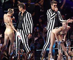 Miley Cyrus PRZEGIĘŁA na imprezie MTV?! (FOTO)
