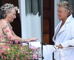Roznegliżowany Rod Stewart rozwiesza pranie podczas urlopu we Włoszech (FOTO)