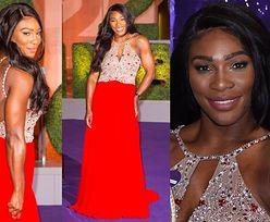 Umięśniona Serena Williams w błyszczącej sukni (ZDJĘCIA)