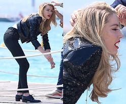 Wyluzowana Amber Heard poświęca się dla piękna