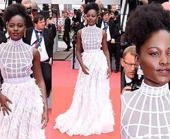 Anielska Lupita Nyong'o na czerwonym dywanie w Cannes