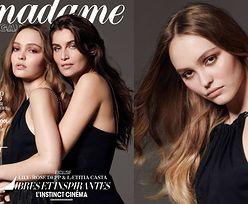 Lily-Rose Depp i Laetitia Casta tulą się na nowej okładce