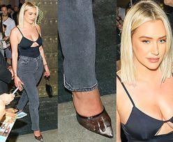Przyjaciółka Kylie Jenner opuszcza imprezę plastrów do piersi w zaparowanych szpilkach z folii (ZDJĘCIA)