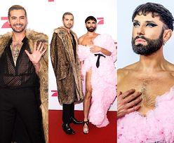 """Conchita Wurst i Bill Kaulitz w efektownych stylizacjach wdzięczą się do zdjęć na premierze """"Queens od Drags"""" (ZDJĘCIA)"""
