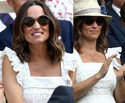 Ciężarna Pippa Middleton ekscytuje się tenisem na Wimbledonie (ZDJĘCIA)