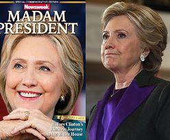 """Amerykański """"Newsweek"""" świętował zwycięstwo Clinton. Wydrukowano 125 000 numerów z taką okładką..."""