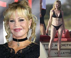 62-letnia Melanie Griffith pozuje w BIELIŹNIE I SZPILKACH (FOTO)