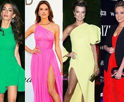 Neonowe sukienki w odważnych stylizacjach gwiazd