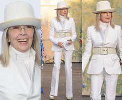 71-letnia Diane Keaton cała na biało