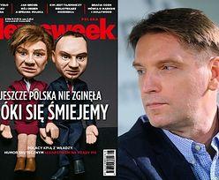 """Lis pokazał swoje kukły Dudy i Szydło na okładce """"Newsweeka""""!"""