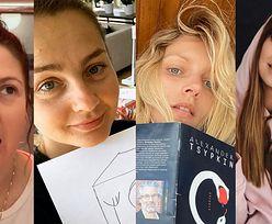 Gwiazdy bez makijażu na kwarantannie: Anja Rubik, Anna Lewandowska, Małgorzata Socha... (ZDJĘCIA)
