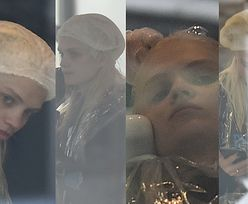Zamyślona Margaret patrzy w dal z głową w myjce fryzjerskiej (ZDJĘCIA)