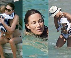 Pippa Middleton zażywa słonecznych kąpieli na rajskich wakacjach z synkiem, mężem i rodzicami (ZDJĘCIA)