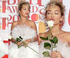 Gwiazdy na czerwonym dywanie BRIT Awards 2018: Rita Ora w futrze, Kylie w płaszczu, Cheryl i Liam razem... (ZDJĘCIA)