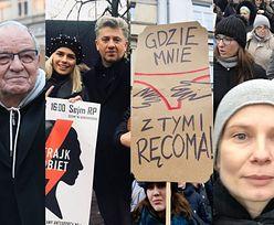 """Czarny Piątek na polskich ulicach: """"Siedź w swojej kaplicy, a nie w MOJEJ MACICY!"""" (ZDJĘCIA)"""