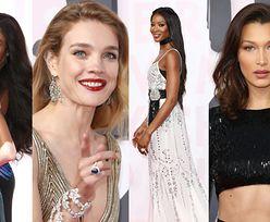 Zjawiskowe Campbell, Vodianova i Bruni na modowej imprezie w Cannes (ZDJĘCIA)