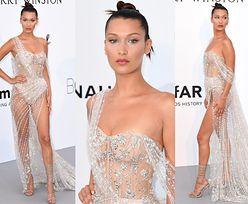 Półnaga Bella Hadid, wypadający biust Nicki Minaj i piersi Iriny Shayk na imprezie w Cannes (ZDJĘCIA)