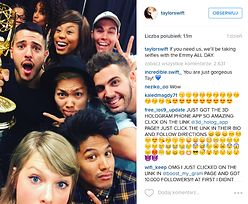 """""""Rekord lajkowy"""" Instagrama: Taylor Swift pozuje z Emmy... (ZDJĘCIA)"""